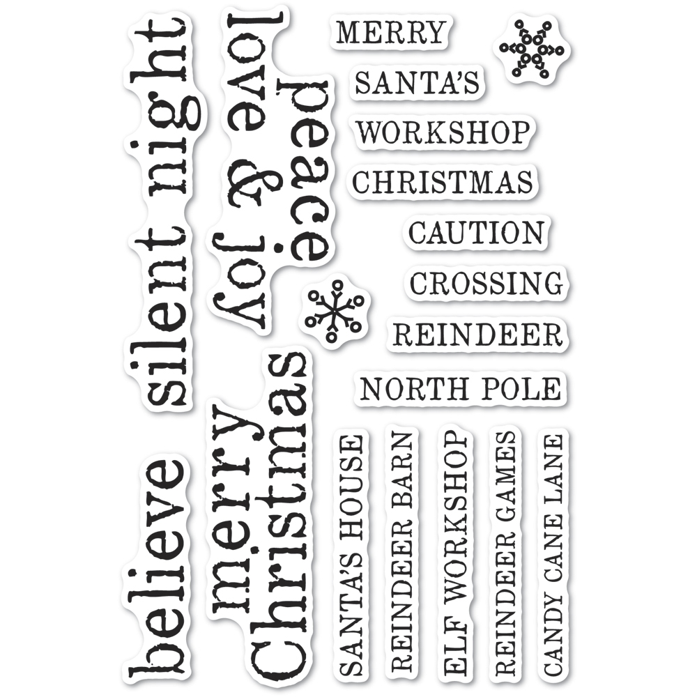 Memory Box Clear Stamps CHRISTMAS TILES Open Studio cl5263 zoom image
