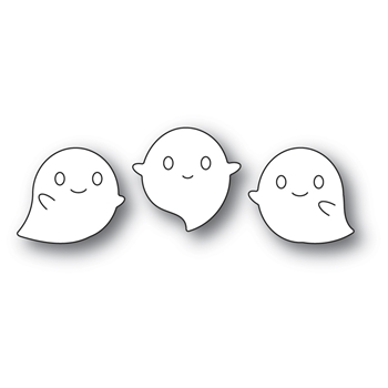 Poppy Stamps SQUEAKER GHOSTS Craft Dies 2264