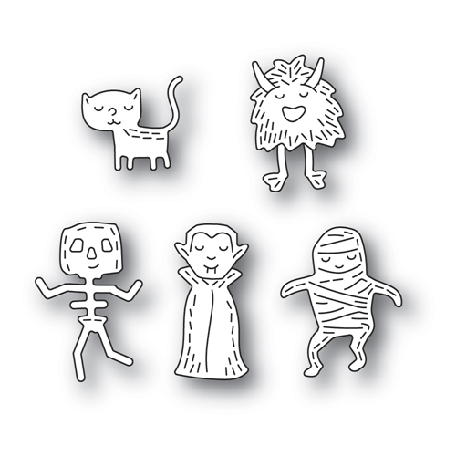 Poppy Stamps WHITTLE MONSTERS Craft Dies 2385 Preview Image
