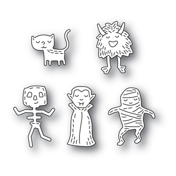 Poppy Stamps WHITTLE MONSTERS Craft Dies 2385