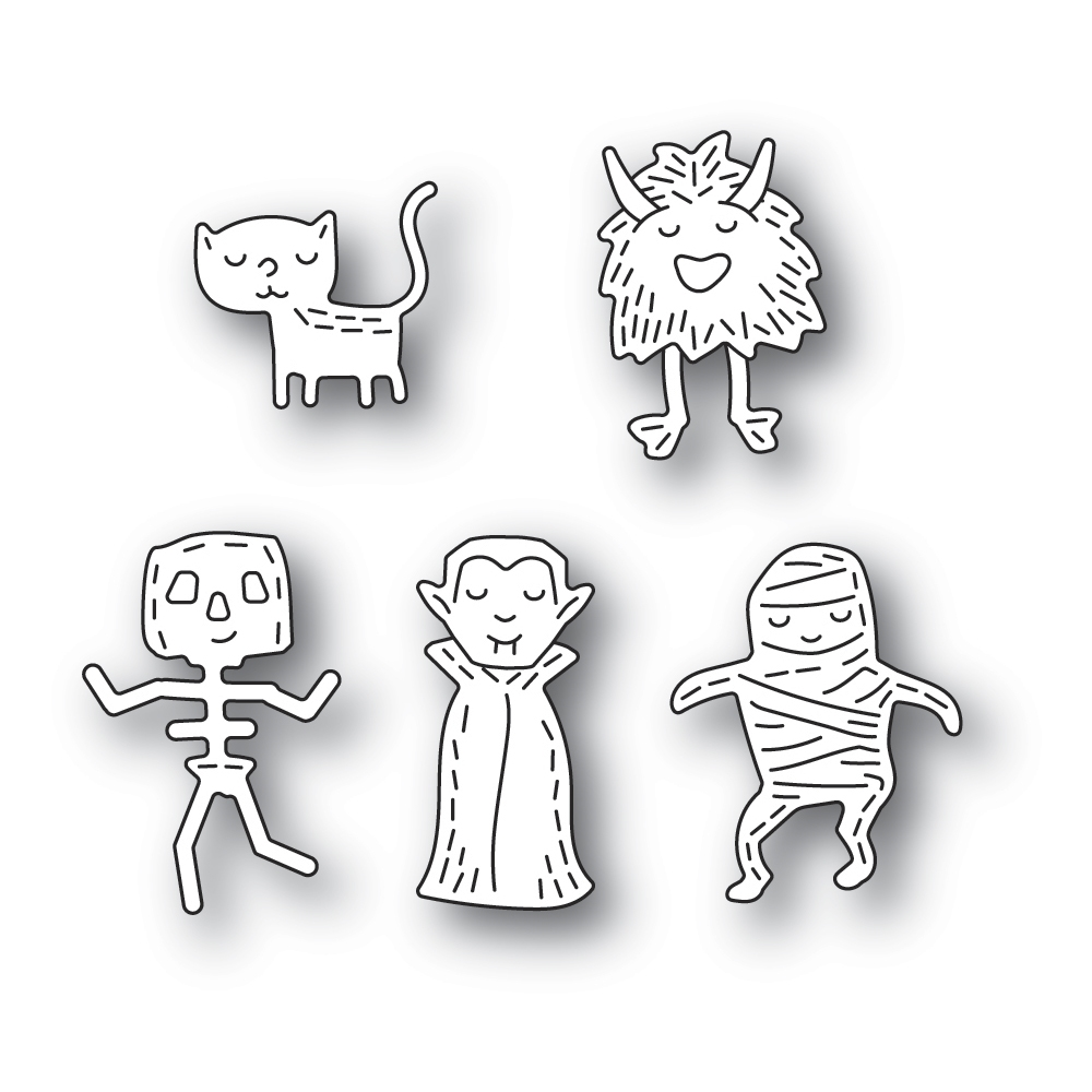 Poppy Stamps WHITTLE MONSTERS Craft Dies 2385 zoom image