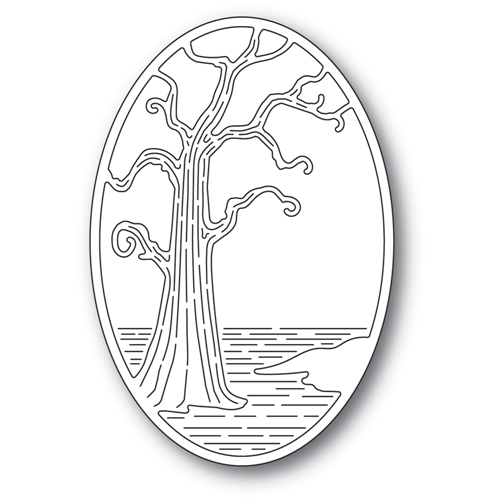 Poppy Stamps TWISTED TREE OVAL Craft Die 2401 Preview Image