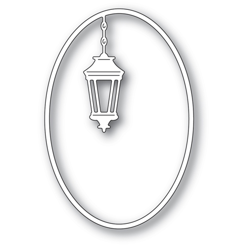 Poppy Stamps SIMPLE LANTERN OVAL Craft Dies 2402 Preview Image