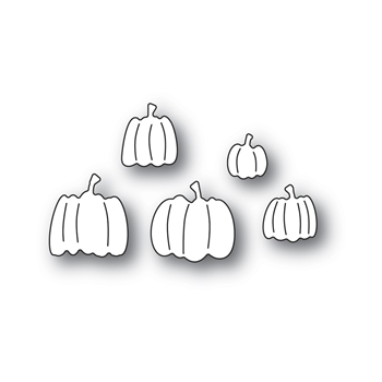 Poppy Stamps PILE OF PUMPKINS Craft Dies 2403