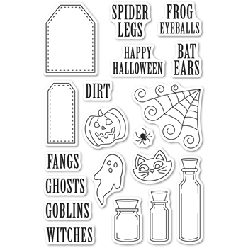 Poppy Stamps Clear Stamps HALLOWEEN INGREDIENTS cl493