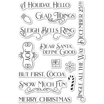 Poppy Stamps Clear Stamps CHRISTMAS FUN cl494