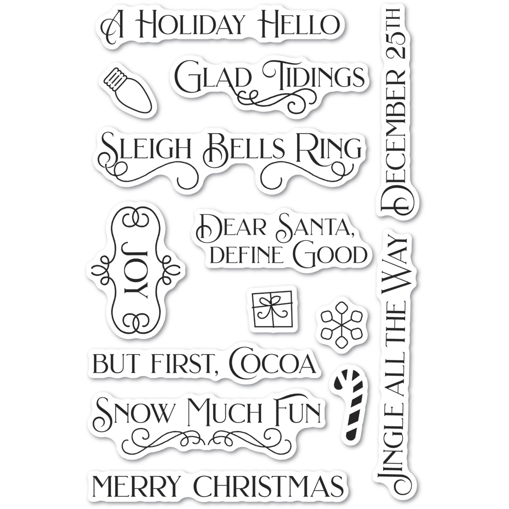 Poppy Stamps Clear Stamps CHRISTMAS FUN cl494 zoom image
