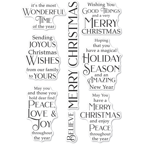 Poppy Stamps Clear Stamps JOYOUS CHRISTMAS WISHES cl497 Preview Image