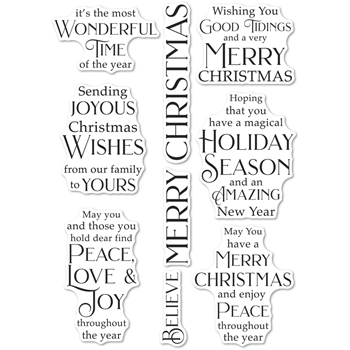 Poppy Stamps Clear Stamps JOYOUS CHRISTMAS WISHES cl497