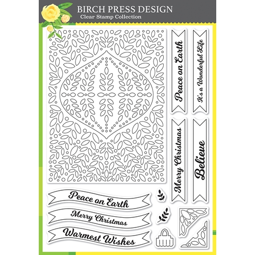 Birch Press Design CHRISTMAS ORNAMENT AND LABELS Clear Stamp Set cl8154 Preview Image
