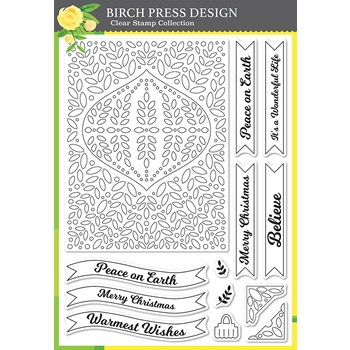 Birch Press Design CHRISTMAS ORNAMENT AND LABELS Clear Stamp Set cl8154