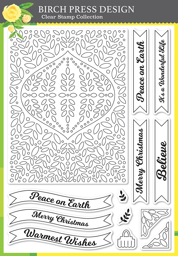 Birch Press Design CHRISTMAS ORNAMENT AND LABELS Clear Stamp Set cl8154 zoom image