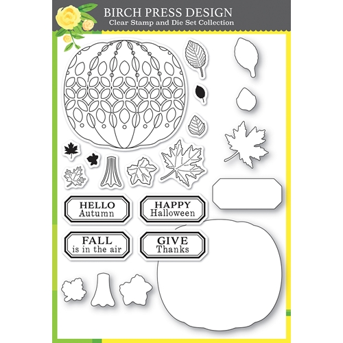 Birch Press Design PUMPKIN LACEWORK Clear stamps and Die Set 8153 Preview Image