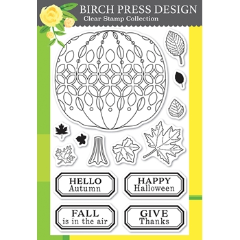 Birch Press Design PUMPKIN LACEWORK Clear Stamp Set cl8153