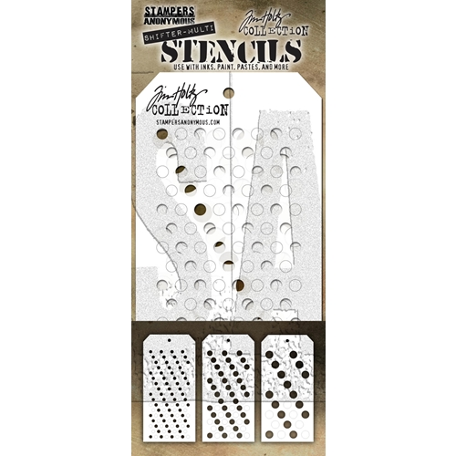 Tim Holtz STENCIL SHIFTER MULTI DOTS THSM01 Preview Image