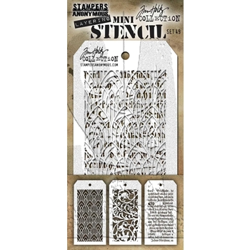 Tim Holtz MINI STENCIL SET 49 MST049 **