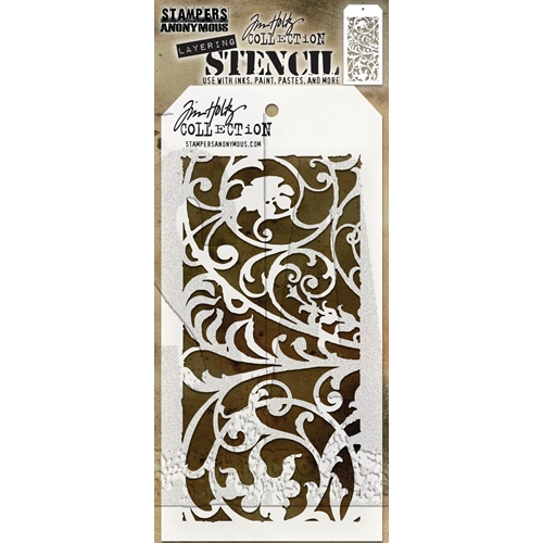 Tim Holtz Layering Stencil IRON WORKS THS148 Preview Image
