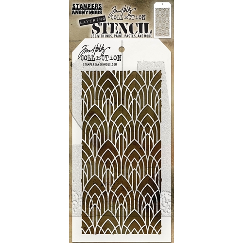 Tim Holtz Layering Stencil DECO ARCH THS147 Preview Image