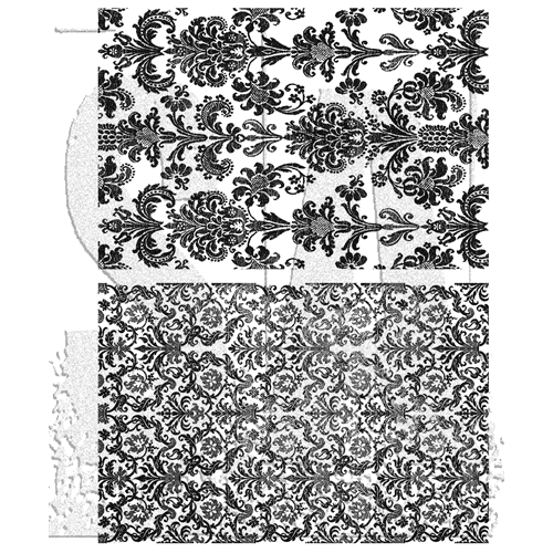 Tim Holtz Cling Rubber Stamps TAPESTRY CMS414 Preview Image