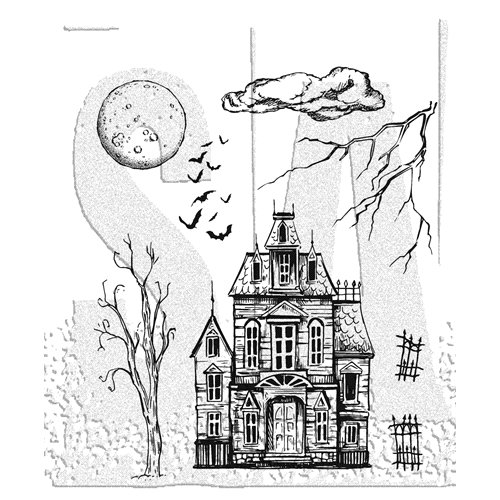 Tim Holtz Cling Rubber Stamps SKETCH MANOR CMS408 Preview Image