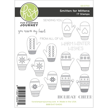 Fun Stampers Journey SMITTEN FOR MITTENS Clear Stamps SS-0701