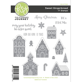 Fun Stampers Journey SWEET GINGERBREAD Cling Stamps SS-0700