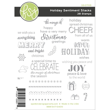 Fun Stampers Journey HOLIDAY SENTIMENTS STACKS Clear Stamps SS-0705