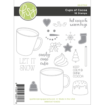 Fun Stampers Journey CUPS OF COCOA Clear Stamps SS-0702