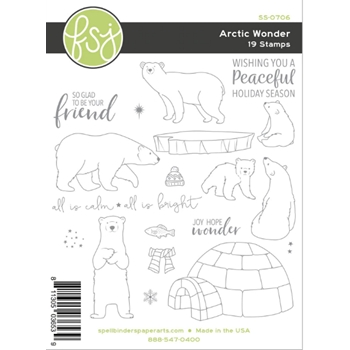 Fun Stampers Journey ARCTIC WONDER Clear Stamps SS-0706