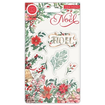 Craft Consortium Noel FLORA Clear Stamps CCSTMP046