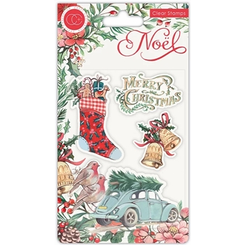 Craft Consortium Noel FESTIVITY Clear Stamps CCSTMP045