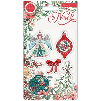 Craft Consortium Noel DECORATIONS Clear Stamps CCSTMP044