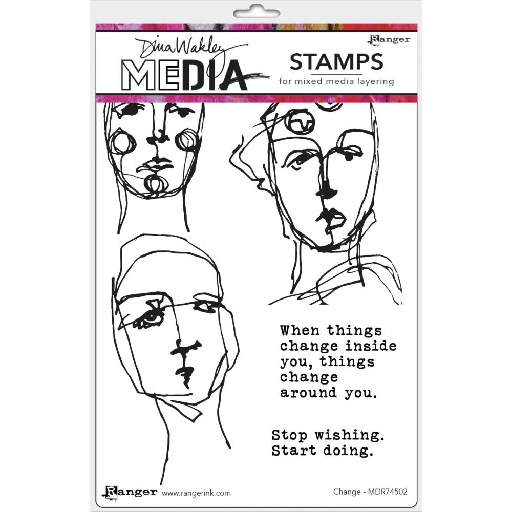 Dina Wakley CHANGE Media Cling Rubber Stamp MDR74502 zoom image