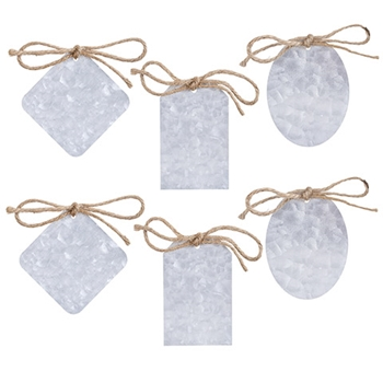 METAL GIFT TAGS IN ASSORTED SHAPES 6 Pack 30092213