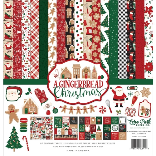 Echo Park A GINGERBREAD CHRISTMAS 12 x 12 Collection Kit gc221016 Preview Image