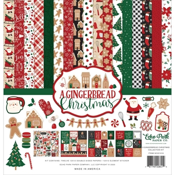 Echo Park A GINGERBREAD CHRISTMAS 12 x 12 Collection Kit gc221016