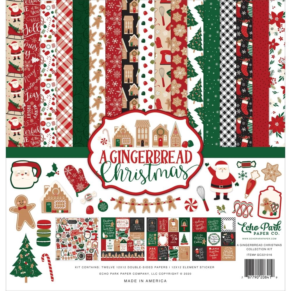 Echo Park A GINGERBREAD CHRISTMAS 12 x 12 Collection Kit gc221016 zoom image