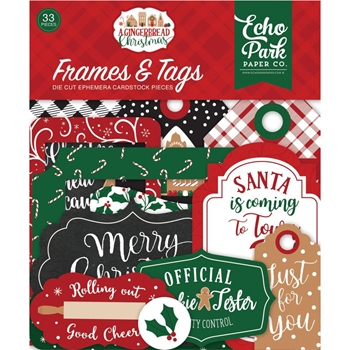 Echo Park A GINGERBREAD CHRISTMAS Ephemera Frames And Tags gc221025