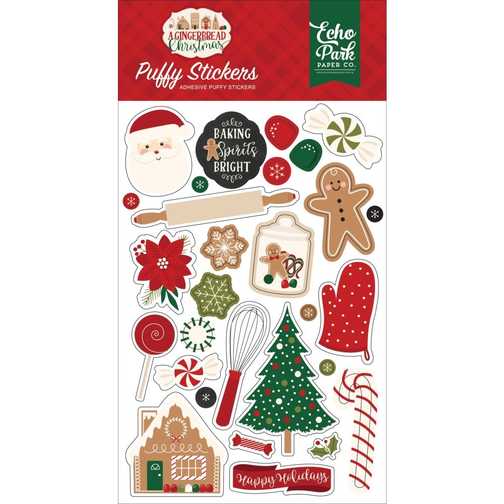 Echo Park A GINGERBREAD CHRISTMAS Puffy Stickers gc221066 zoom image