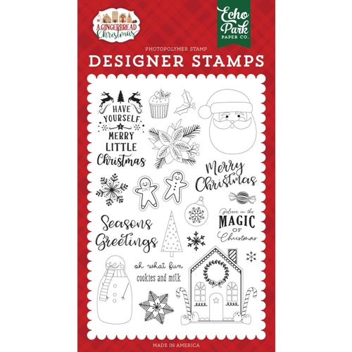 Echo Park COOKIES AND MILK Clear Stamps gc221043 Preview Image