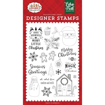 Echo Park COOKIES AND MILK Clear Stamps gc221043