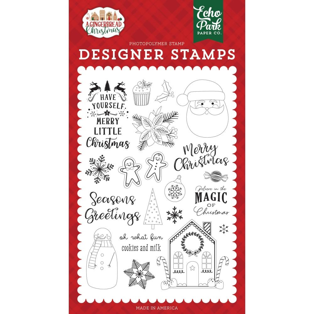 Echo Park COOKIES AND MILK Clear Stamps gc221043 zoom image