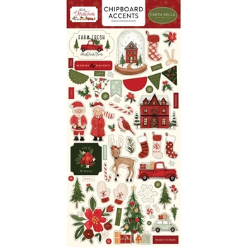 Carta Bella HELLO CHRISTMAS Chipboard Accents cbhc124021