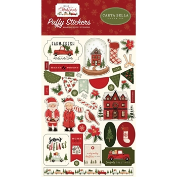 Carta Bella HELLO CHRISTMAS Puffy Stickers cbhc124066