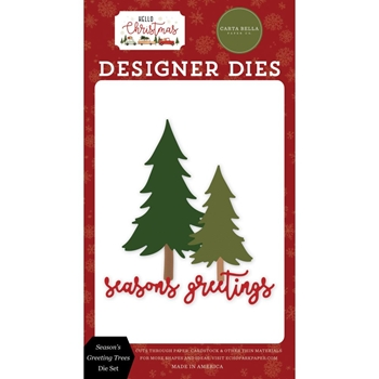 Carta Bella SEASON'S GREETING TREE Dies Set cbhc124042