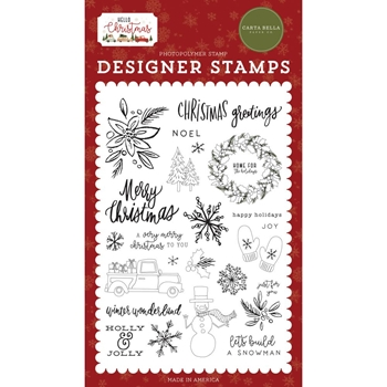 Carta Bella CHRISTMAS GREETINGS Clear Stamps cbhc124045