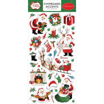 Carta Bella DEAR SANTA 6 x 13 Chipboard Accents cbde125021