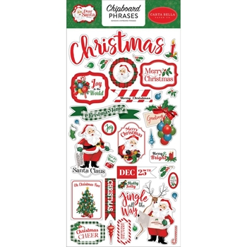 Carta Bella DEAR SANTA 6 x 13 Chipboard Phrases cbde125022