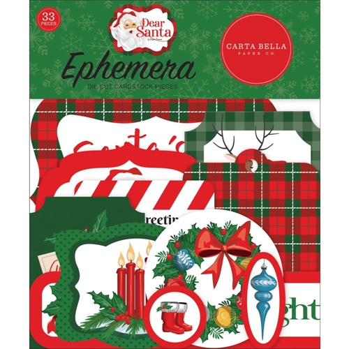 Carta Bella Dear Santa Ephemera Pack