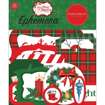 Carta Bella DEAR SANTA Ephemera cbde125024
